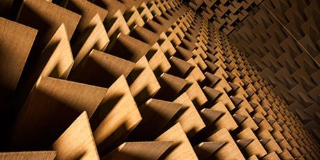 Anechoic chamber walls (Photo: Ulrik Jantzen)