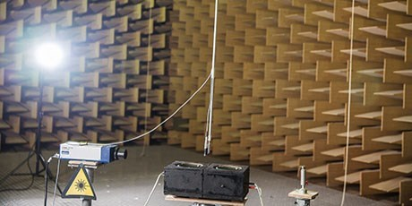 Station at anechoic chamber (Photo: Ulrik Jantzen)